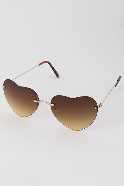Heart Shaped Tinted Sunglasses