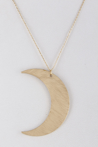 Crescent Moon Statement Necklace