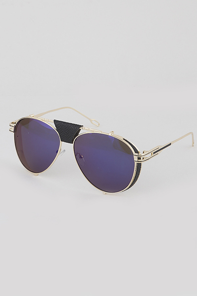 Unique Frame Aviator Sunglasses