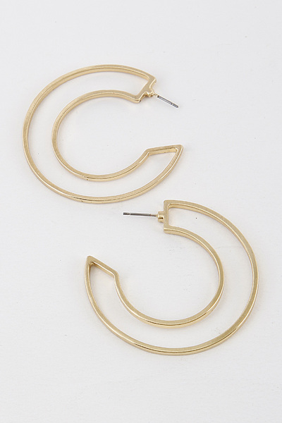 Hole Hoop Earrings