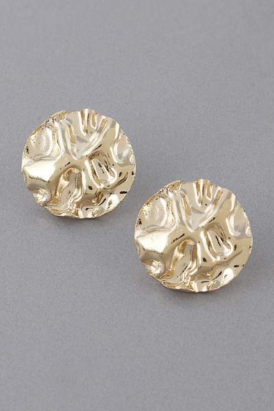 Small Wrinkled Stud Earrings