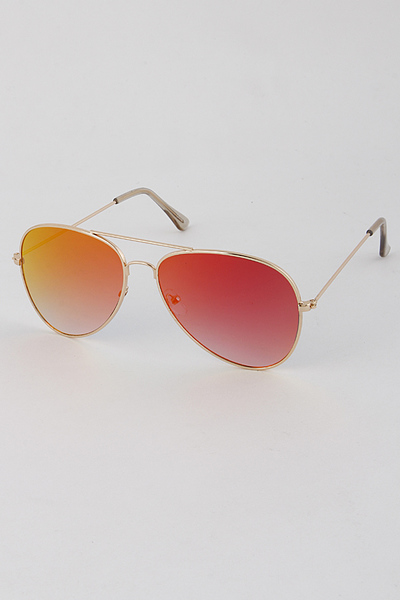 Fade Frame Aviator Sunglasses