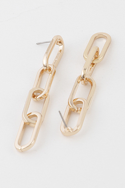 Chain Back Drop Earring