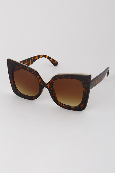 Eye Cat Framed Sunglasses