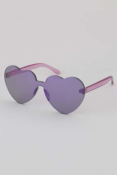 Monotone Heart Sunglasses