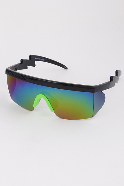 Robot Sunglasses With Zig Zag Detail