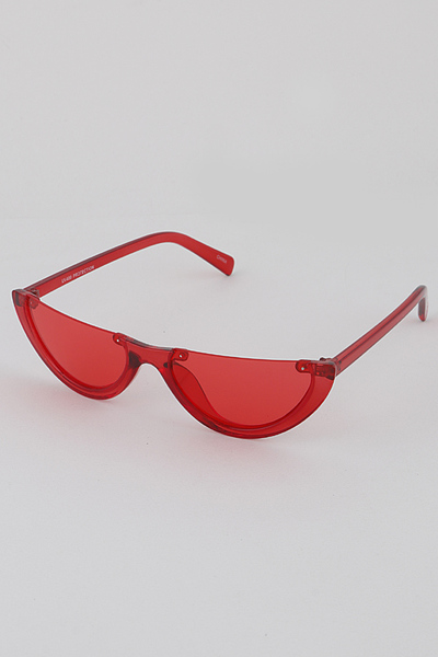 Half Moon Transparent Sunglasses