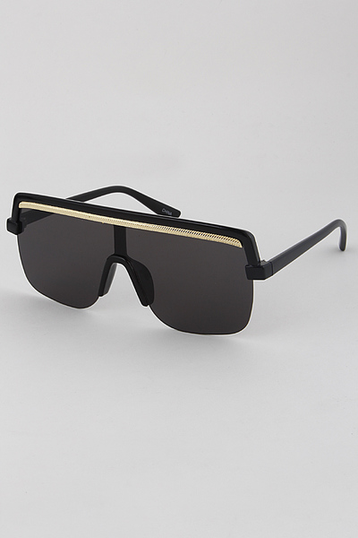 Hipster Gold Rimmed Sunglasses
