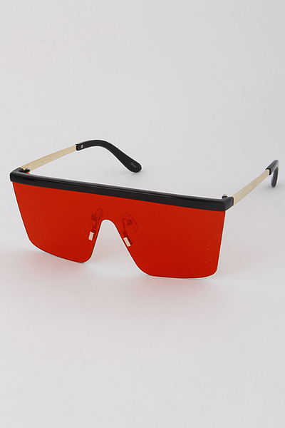 One Piece Rectangle Sunglasses