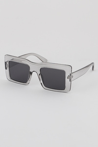 Rectangular Wide Frame Sunglasses