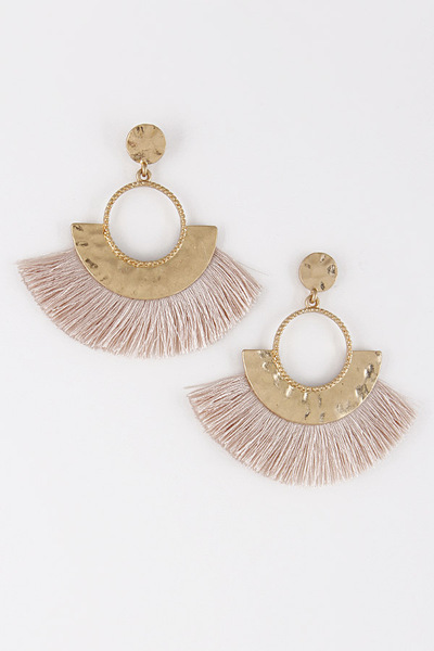 Multi Tassel Aztec Style Earrings