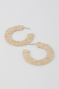 Million Roses Hoop Earrings