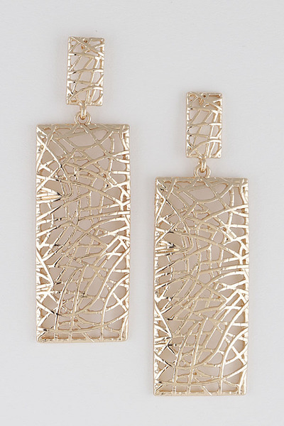 Open Cut Abstract Earrings
