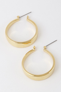 Thick Hoop Metal Earrings