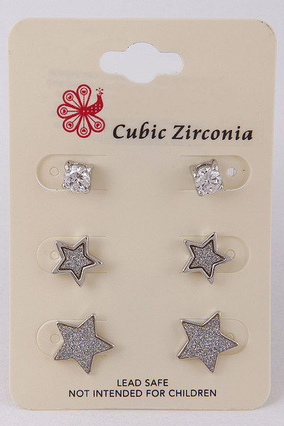 Mixed Sparkling Earring Set