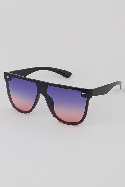 Rounded Shield Sunglasses