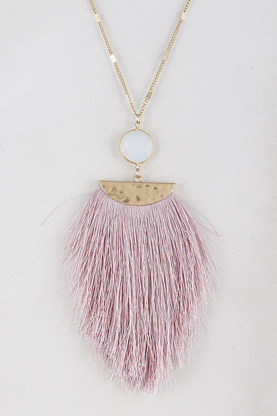 Fringed Tassel Aztec Inspired Necklace