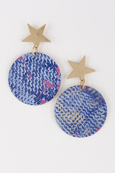 Star & Circle Earrings