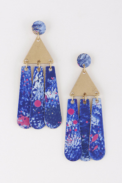 Pyramid Fashion Earrings