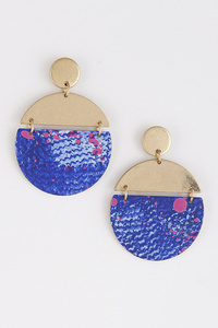 Two World Circle Earrings