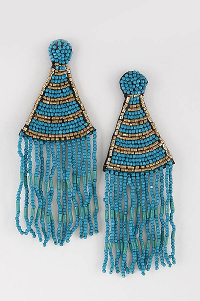 Aztec Inspired Beaded Earrings