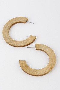 Antique Carved Hoop Earrings
