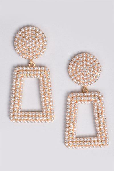 Open Cut Pearl Drop Earring