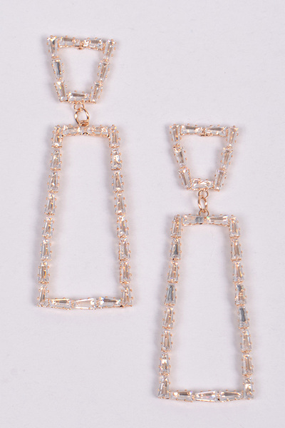 Trapezoid Drop Earring