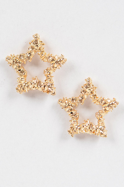 Glitter Star Shape Earrings