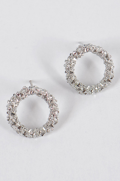 Glitter Round S Earrings