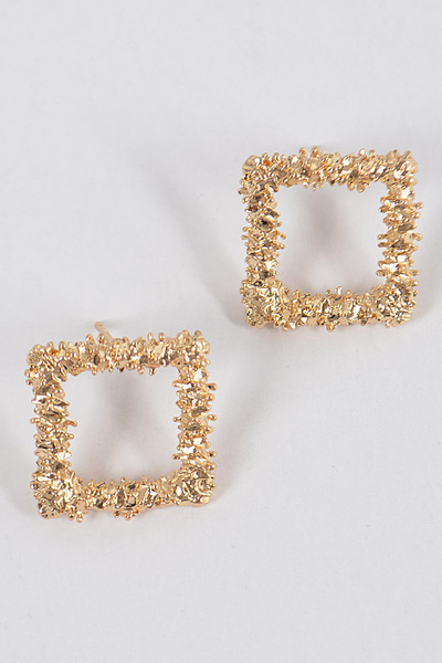Glitter Square S Earrings
