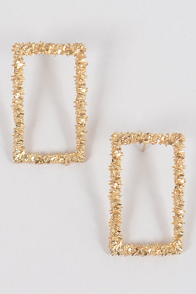 Glitter Rectangle M Earrings