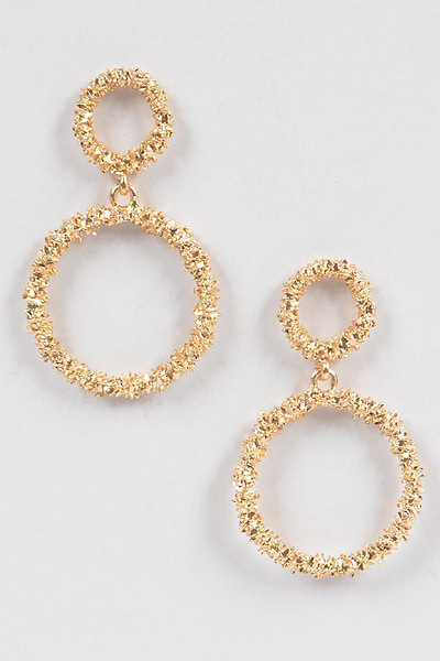 Glitter Round Dangling Earrings