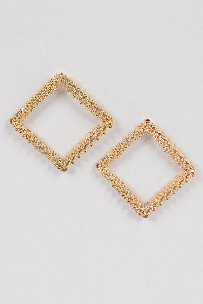 Glitter Square Shape Earrings