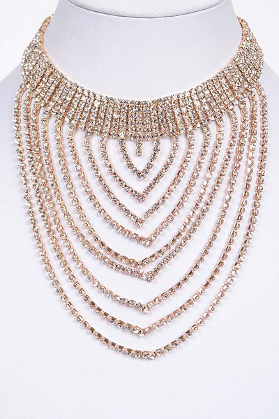 Layered Rhinestone Necklace
