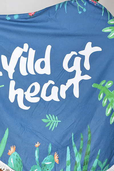 Wild at Heart Beach Towel