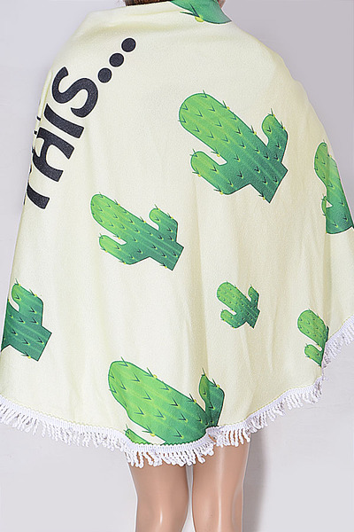 Lovely Cactus Beach Towel