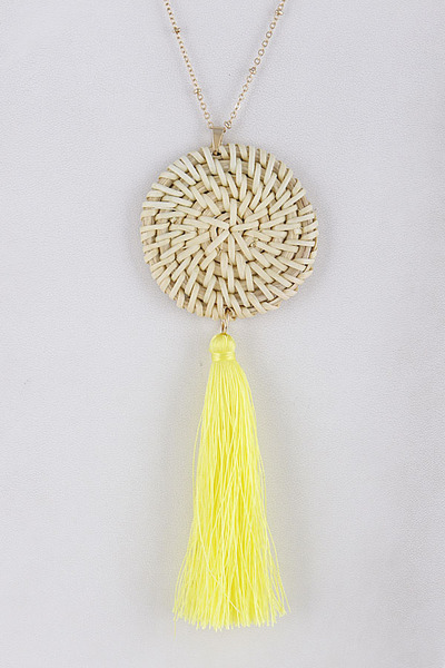 Tassel & Spiral Necklace