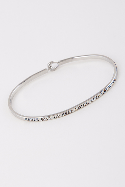 Never Give Up Keep Going Keep Growing Bracelet