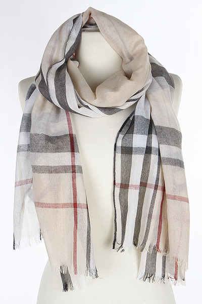 Checkered Plaid Scarf