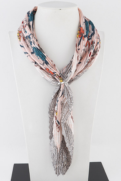 Multi Flower Fashion Scarf