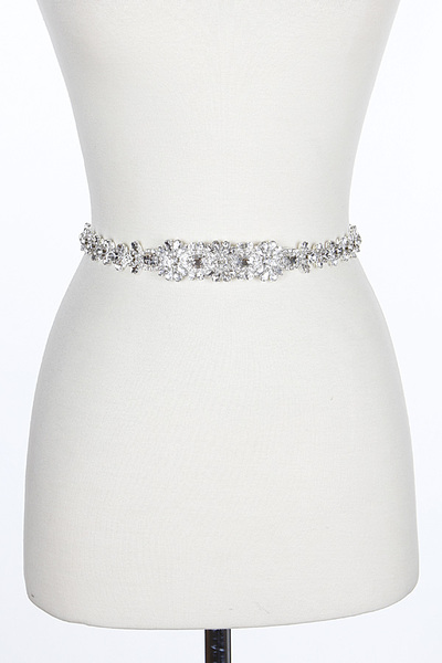 Sparkle Embroidered Fitting Belt