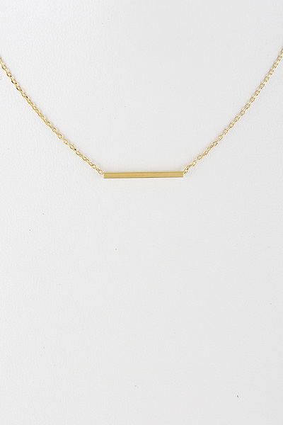 Bar Line Lovely Choker Necklace