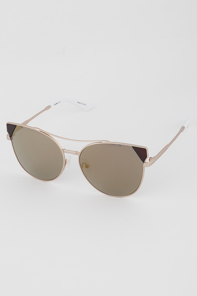 Open Cut Frame Cat Eye Sunglasses