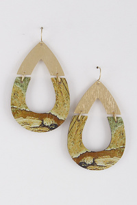 Aztec Vibes Teardrop Earrings