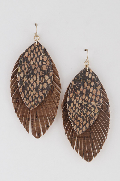 Snakeskin Layered Earrings