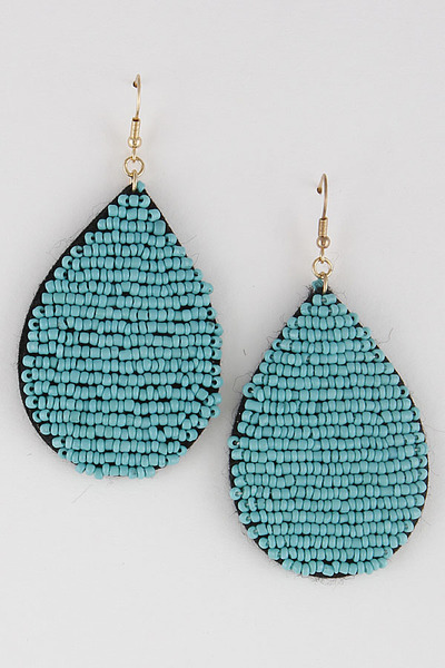 Beaded Water Drop Earrings