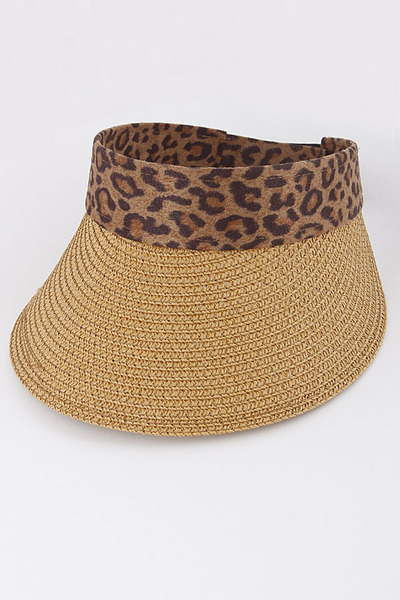 Lovely Hat With Animal Print Detail