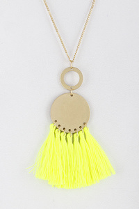 Fringed Tassel Long Necklace