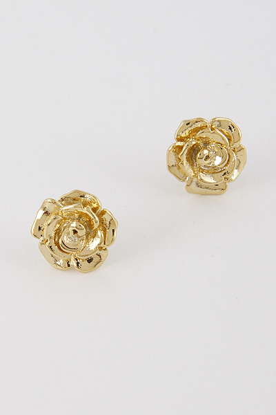 Metallic Rose Earrings